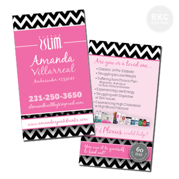 Plexus Slim Business Cards Full Color, 2-Sided